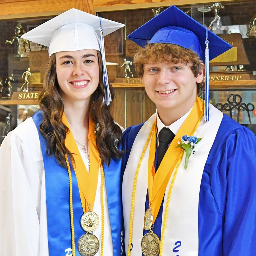 Abigail Meier was the valedictorian and Tanner Kuper the salutatorian of the Class of 2021.